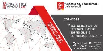 """Jornada """"Els Objectius de Desenvolupament Sostenible i el Treball Decent"""""""